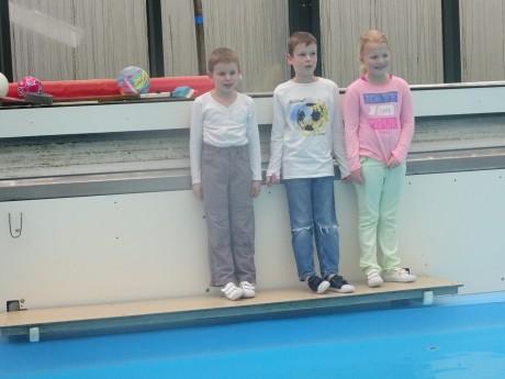 Kinderen voor zwemvaardigheid